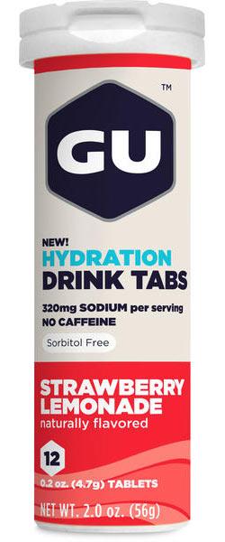 GU Hydration Drink Tabs - Strawberry Lemonade (12 Tablets)