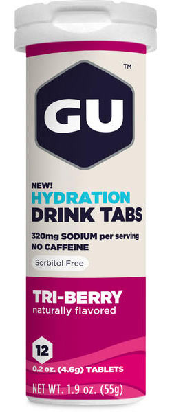 GU Hydration Drink Tabs - Tri Berry (12 Tablets)