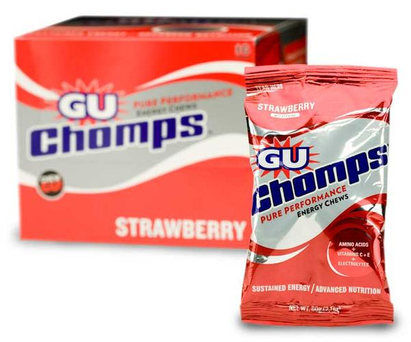 GU Chomps Flavor | Size: Strawberry w/Caffeine | 16-pack