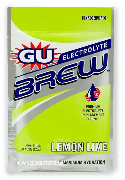GU Electrolyte Brew Flavor | Size: Lemon Lime | Single Serving