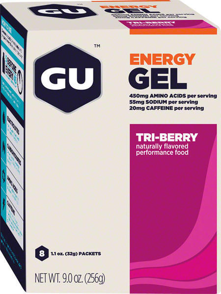 GU Energy Gel Flavor | Size: Tri Berry | 8-pack