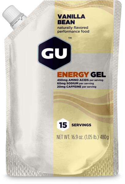 GU Energy Gel Flavor | Size: Vanilla Bean | 15-serving