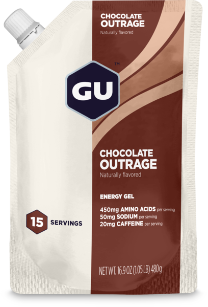 GU Energy Gel Flavor | Size: Chocolate Outrage | 15-serving