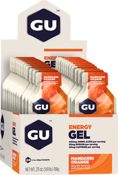 GU Energy Gel Flavor | Size: Mandarin Orange | 24-pack