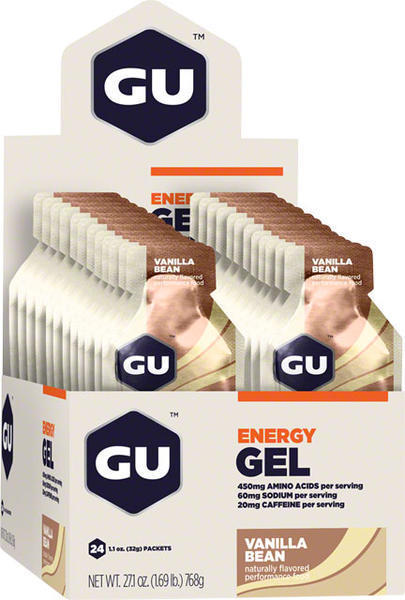 GU Energy Gel Flavor | Size: Vanilla Bean | 24-pack