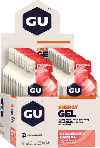 GU Energy Gel - Strawberry Banana (32g) - Box of 24