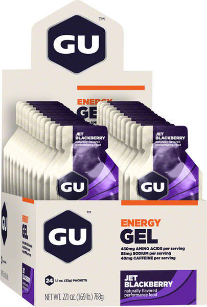 GU Energy Gel Flavor | Size: Jet Blackberry | 24-pack