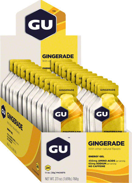 GU Energy Gel - Gingerade (32g) - Box of 24 Flavor: Gingerade