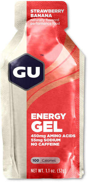 GU Energy Gel Flavor | Size: Strawberry Banana | Single Serving