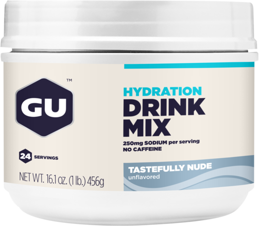 GU Hydration Drink Mix Flavor | Size: Tastefully Nude | 24-serving