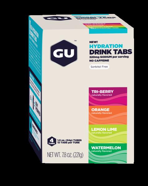 GU Hydration Drink Tabs 4-Tubes Box