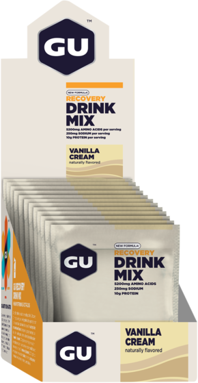 GU Recovery Brew Flavor | Size: Vanilla Cream | Single Serving 12-pack