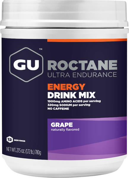 GU Roctane Energy Drink Flavor | Size: Grape (Caffeine-Free) | 12-serving