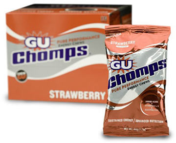 GU Chomps Flavor: Strawberry w/Caffeine