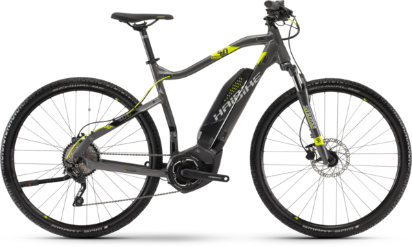 Haibike SDURO Cross 4.0 High-step Color: Anthracite/Black/Lime