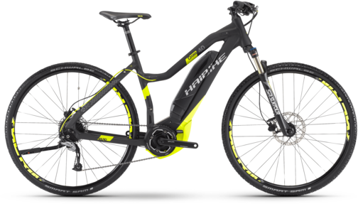Haibike SDURO Cross 4.0 Low-Step Color: Black/Lime Matte