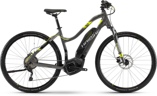 Haibike SDURO Cross 4.0 Low-step Color: Anthracite/Black/Lime