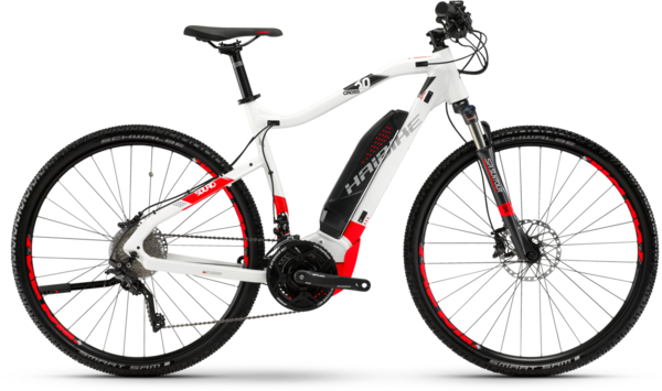 Haibike SDURO Cross 6.0 High-step Color: White/Red/Anthracite