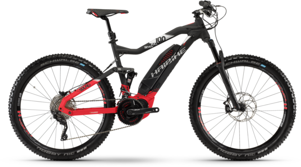 Haibike SDURO FullSeven 10.0 (e16) Color: Black/Red/Silver Matte