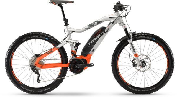 Haibike SDURO FullSeven 8.0 Color: Silver/Orange/Olive Matte