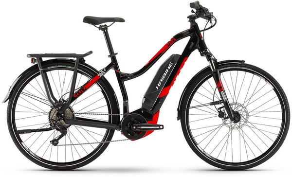 Haibike SDURO Trekking 2.0 Lo Step Color: Black/Red