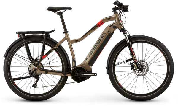 Haibike SDURO Trekking 4.0 Step Thru Color: Bronze/Black/Red