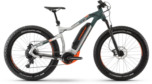 Haibike XDURO FatSix 8.0 Color: Silver / Olive / Orange Matte