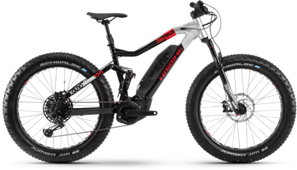 Haibike XDURO FullFatSix 10.0 Color: Black / Silver / Red Matte