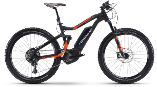 Haibike XDURO FullSeven S 7.0 Color: Black/Orange/Anthracite Matte
