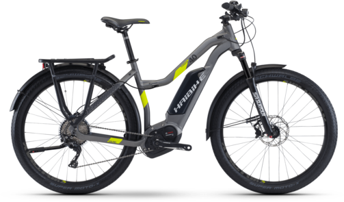 Haibike XDURO Trekking 4.0 Low-Step Color: Titan/Lime Matte