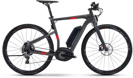 Haibike XDURO Urban S 5.0 Color: Anthracite/Red Matte
