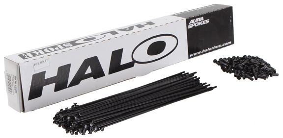HALO Aura 14g (Black) Spoke Length: 180mm