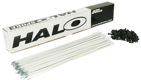 HALO Aura 14g (White) Spoke Length: 232mm