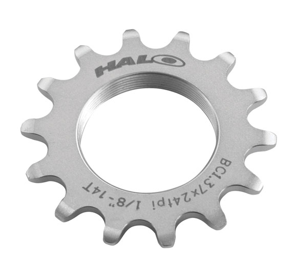 HALO Fixed Cog and Lockring Color | Size: Silver | 14T
