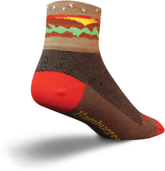 SockGuy Hamburger Socks Color: Brown