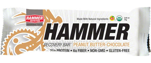 Hammer Nutrition Hammer Recovery Bar (12-Count) Flavor: Peanut Butter Chocolate