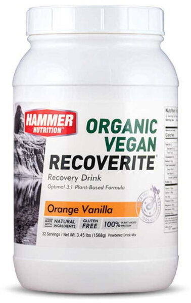 Hammer Nutrition Organic Vegan Recoverite Flavor | Size: Orange Vanilla | 32-serving