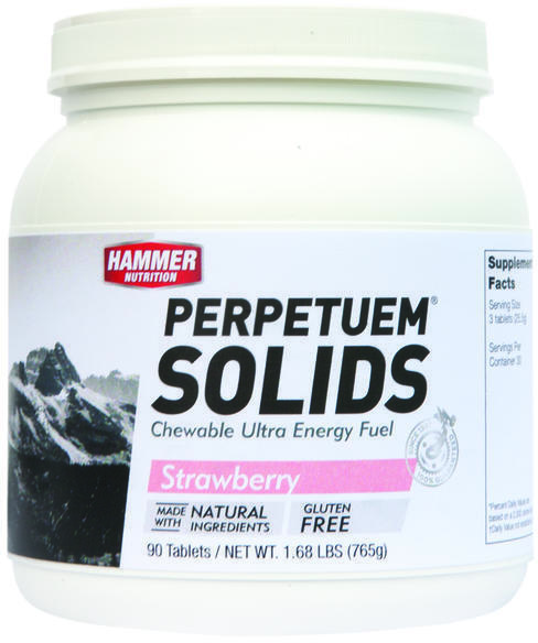 Hammer Nutrition Perpetuem Solids Flavor | Size: Strawberry-Vanilla | 90 Tablets