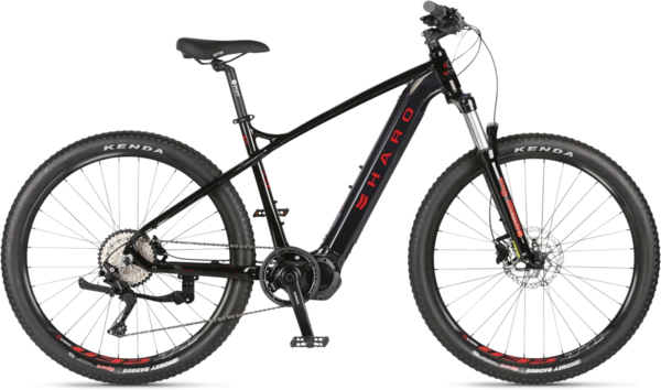 Haro Double Peak I/O Color: Black/Neon Red
