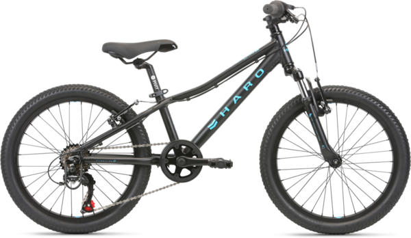 Haro Flightline 20 Color: Matte Black/Aqua