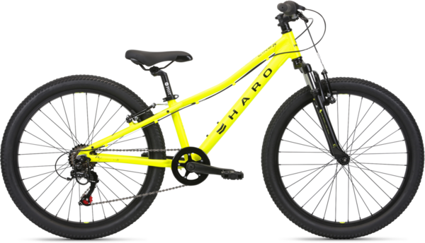 Haro Flightline 24 Color: Matte Neon Yellow/Black