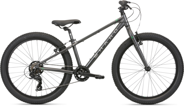 Haro Flightline 24 Plus Color: Matte Charcoal/Neon Green