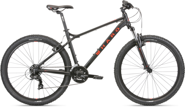 Haro Flightline One 27.5 Color: Matte Black/Neon Red