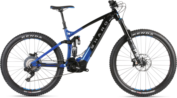 Haro Shift I/O 9 Color: Black/Metallic Blue Fade