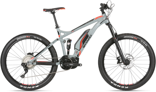 Haro Shift Plus I/O 9 Color: Cool Grey/Neon Red