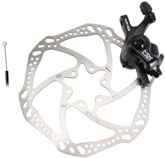 Hayes MX Expert MTN Mechanical Disc Brake Color: Black Anodized