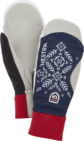 Hestra Gloves Women's XC Primaloft Mitt Color: Dark Navy Print