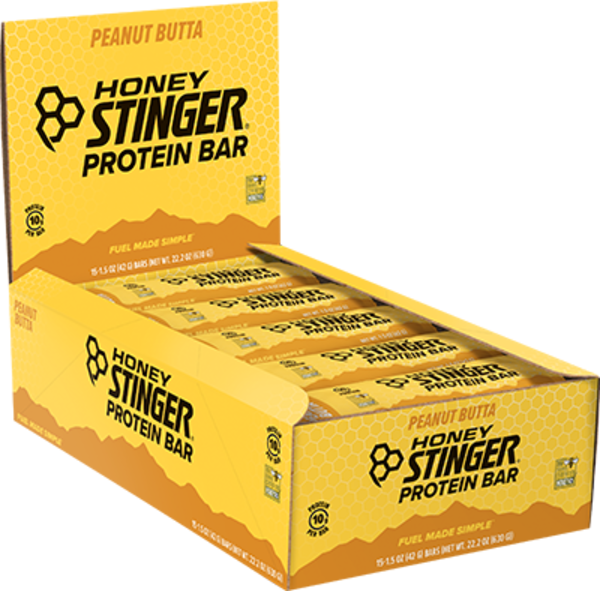 Honey Stinger Protein Bar Flavor | Size: Peanut Butta | Single Serving 15-pack