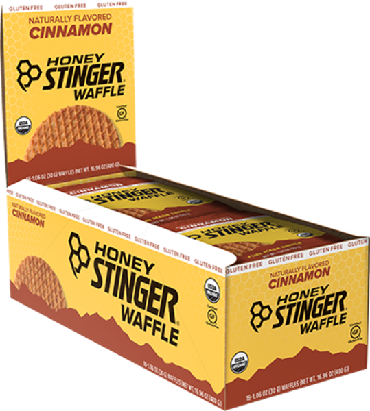 Honey Stinger Gluten Free Organic Waffle Flavor | Size: Cinnamon | Single Serving 16-pack