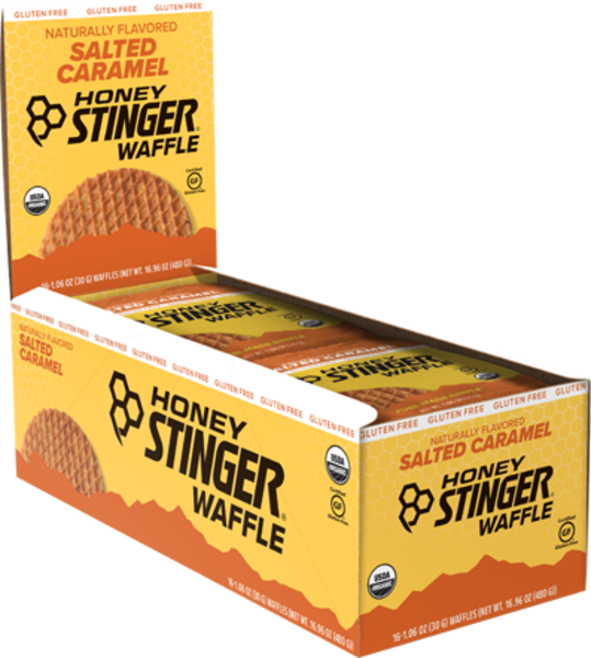 Honey Stinger Gluten Free Organic Waffle Flavor | Size: Salted Caramel | Single Serving 16-pack